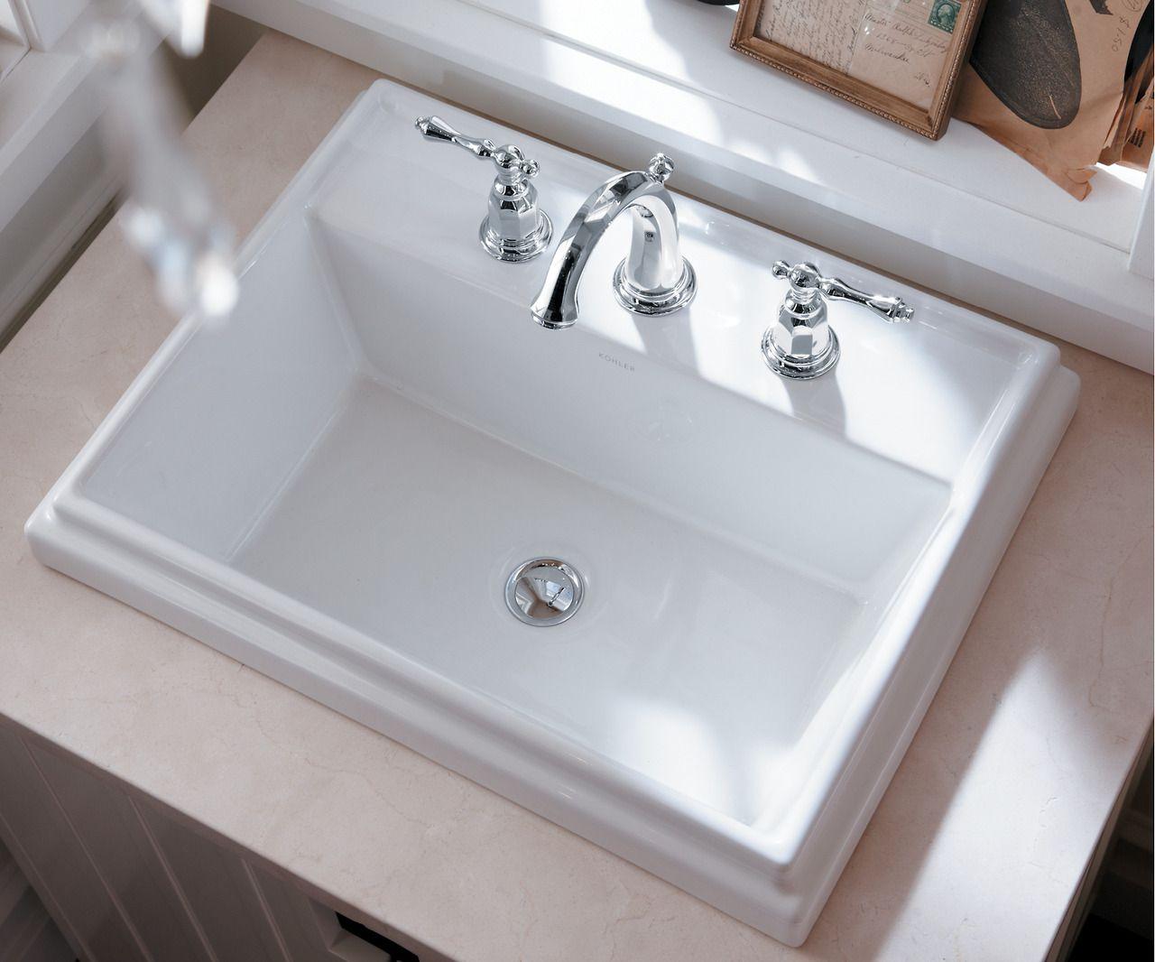 The Bold Look Of Drop In Bathroom Sinks Eclectic Bathroom