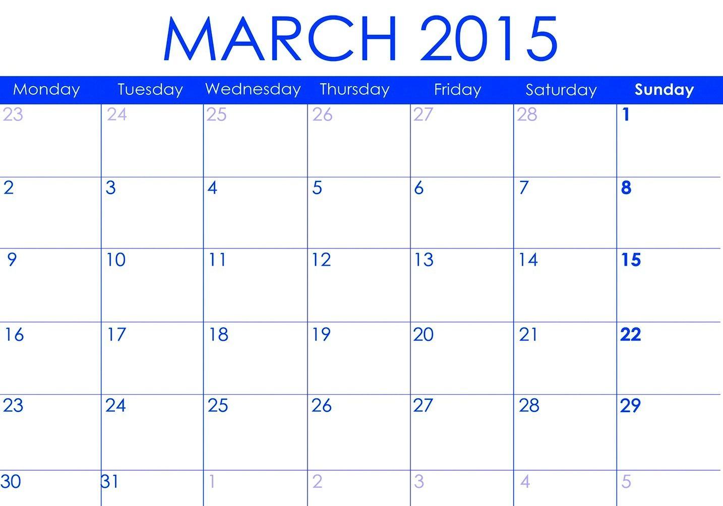 Download March 2015 Calendar Uk Printable Cute March 2015 Calendar