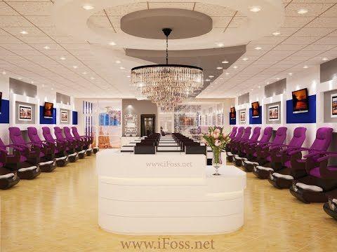 Nail Salon Design 3d Nailsalondesign Beautifulsalon Tiemnaildep Salon Design Nail Salon Decor Beauty Salon Interior