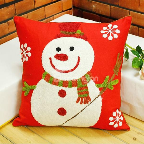 Lovely Snowman Snowflake Design Cotton Red Throw Pillow for Christmas on sale, Buy Retail Price Throw Pillows at Beddinginn.com #snowman #cotton #red #pilow #throw #lovely #christmas www.beddinginn.com click here: http://www.beddinginn.com/product/Lovely-Snowman-Snowflake-Design-Cotton-Red-Throw-Pillow-For-Christmas-11438862.html