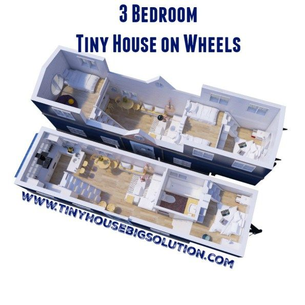 Tiny House Floor Plans Trailer 3 bedroom tiny house on wheels | tiny house ideas | pinterest