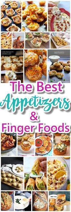 The Best Easy Party Appetizers, Hors D'oeuvres, Delicious Dips and Finger Foods Recipes – Quick family friendly tapas and snacks for Holidays, Tailgating, New Year's Eve and Super Bowl Parties!
