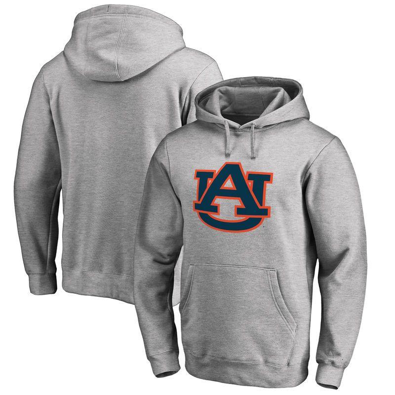 Auburn Tigers Fanatics Branded Big & Tall Primary Team Logo Pullover Hoodie - Heathered Gray