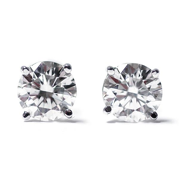 Igi Certified Cttw White Gold Round Diamond Stud Earrings Contemporary And Distinctive Our Gem Stone Are Sure To Be Great Addition Any
