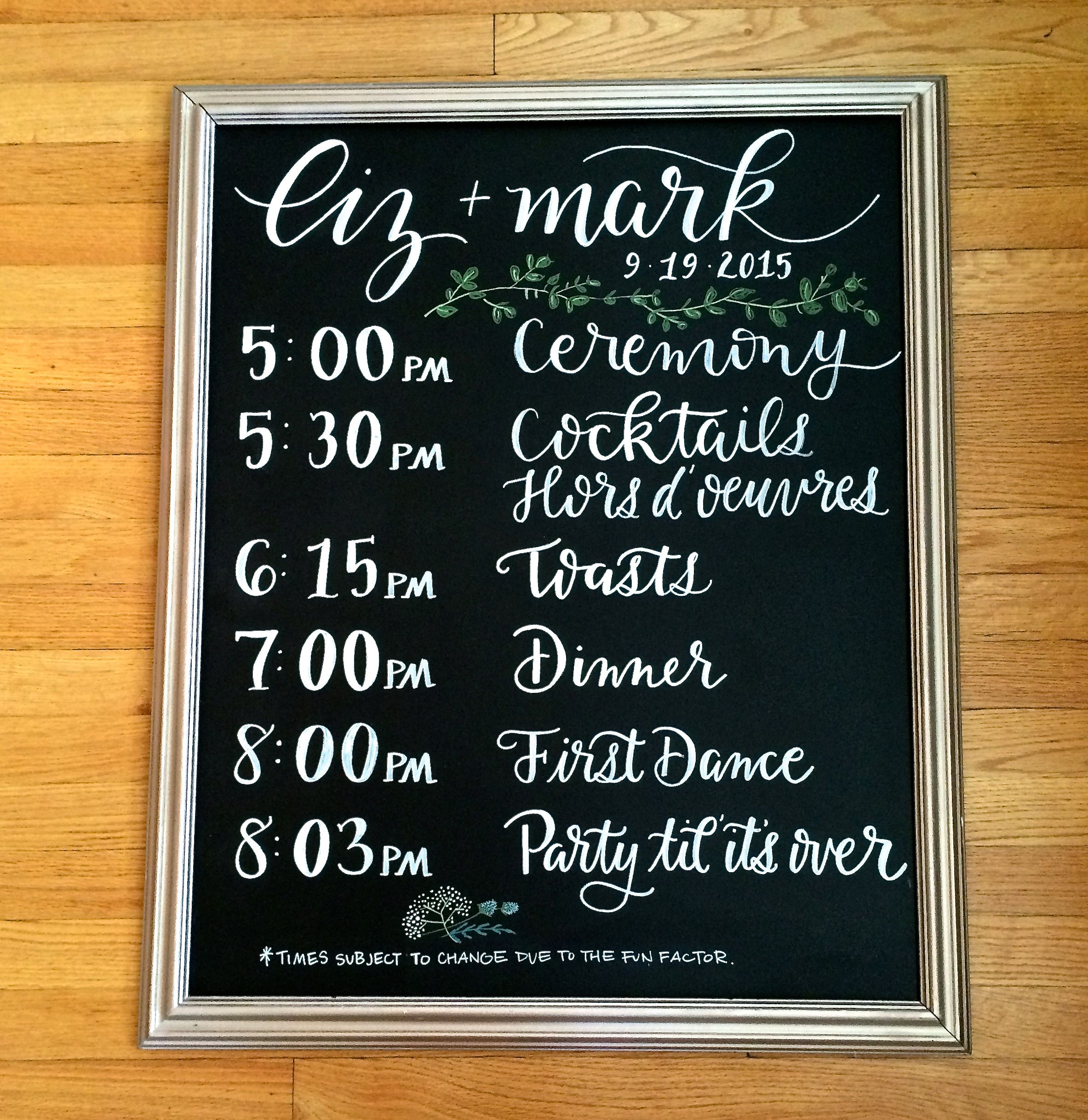 Portfolio Chalkboard Wedding Order Of Wedding Ceremony Wedding Order Of Events