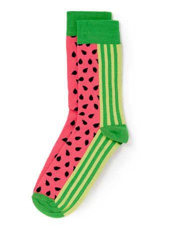 Pink Watermelon Pattern Socks