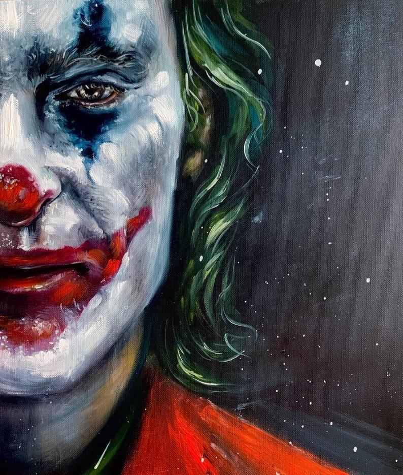 Joker oil painting Joaquin Phoenix   Etsy