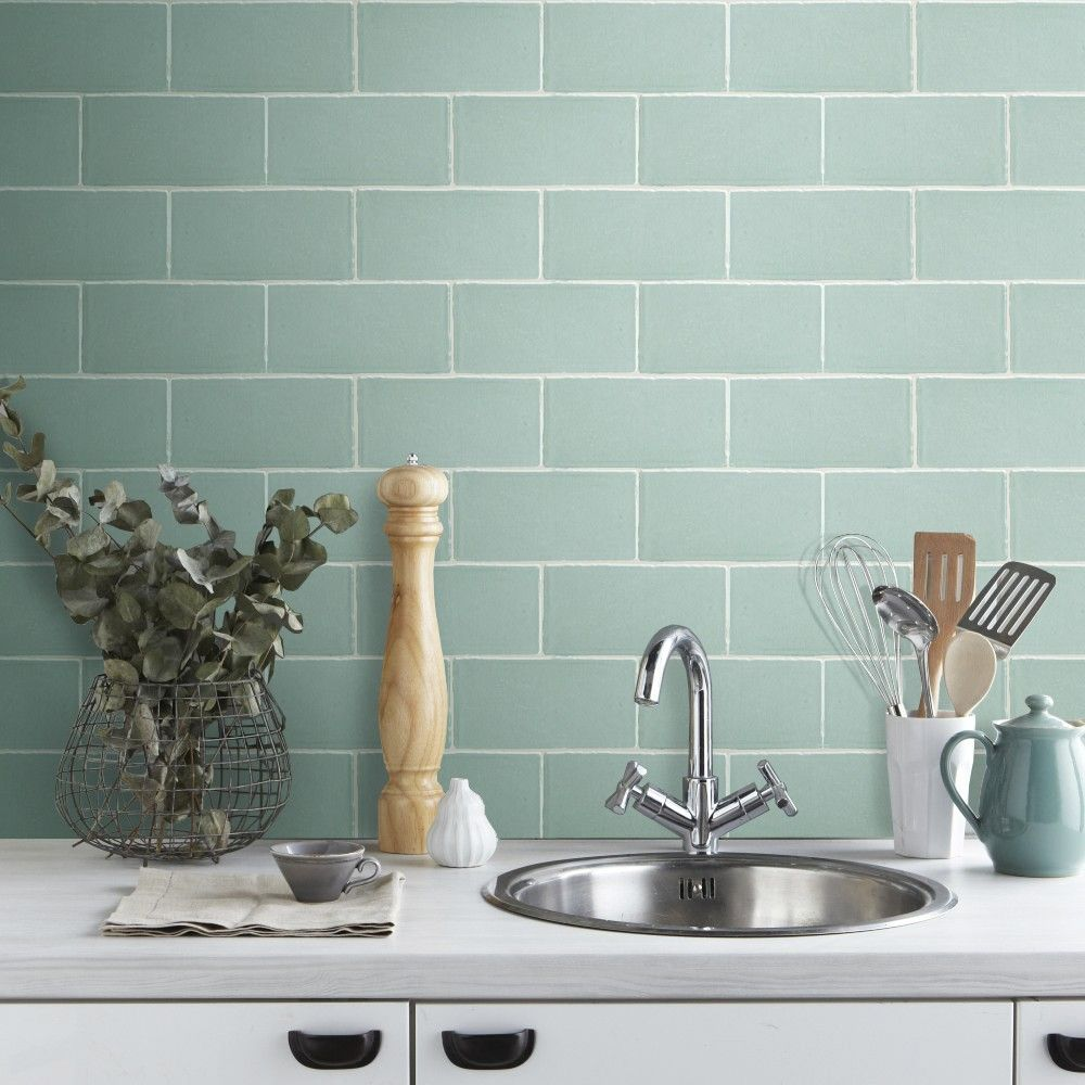 Craquele Sage Wall Tile - Wall Tiles from Tile Mountain | Kitchen ...