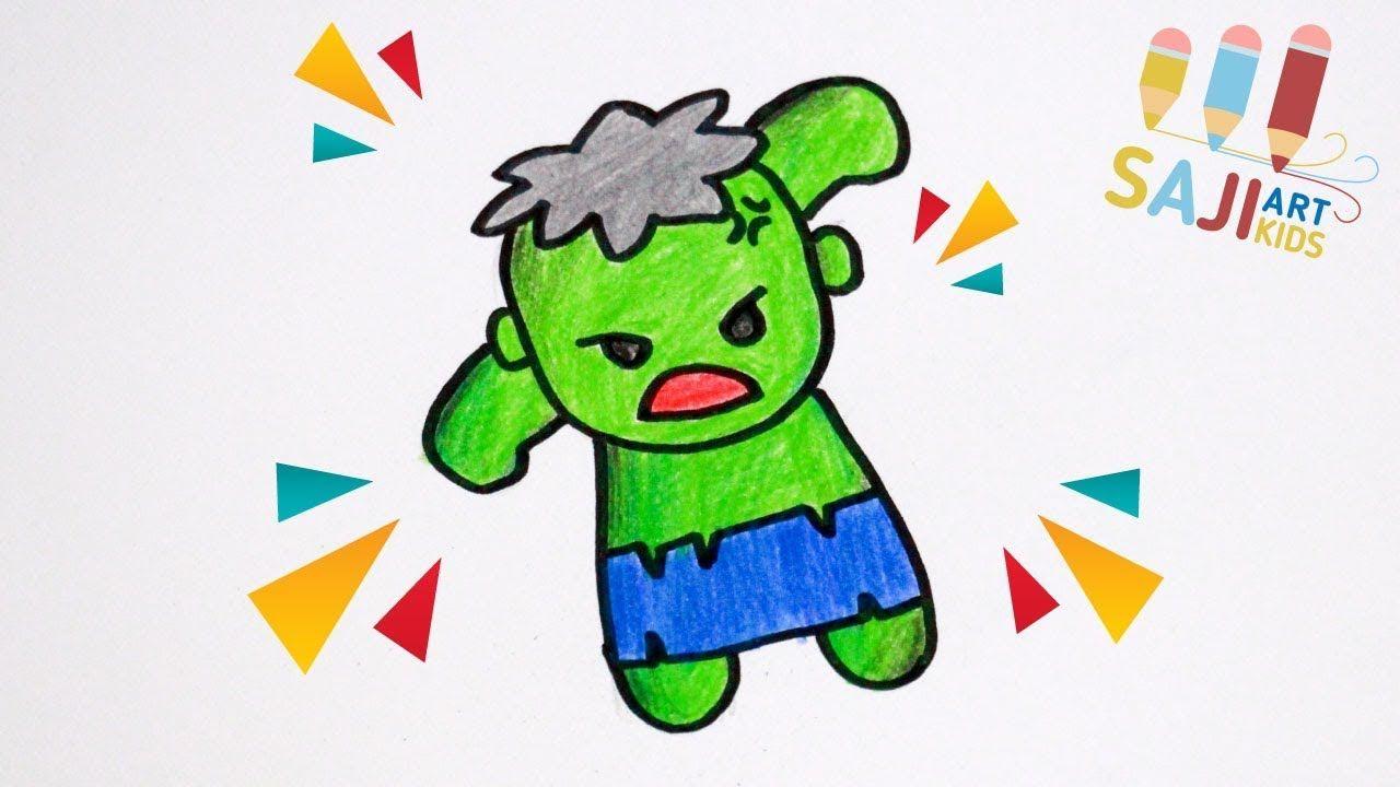 วาดร ปเดอะฮ คง ายๆ วาดร ประบายส ไม สวยๆ How To Draw So Cute Hulk