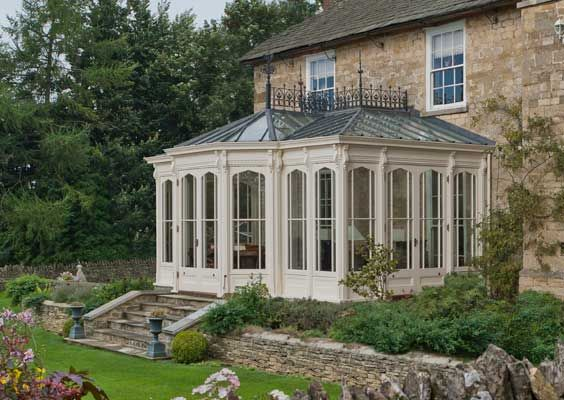 The windows can be made in the traditional style six over for Victorian sunroom