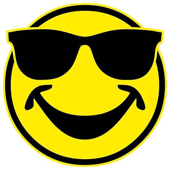 Smilie Mit Sonnenbrille