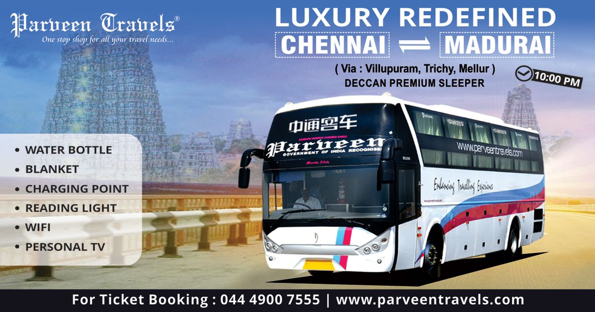Luxury Redefined Deccan Auto Premium Sleeper Bus Service Between