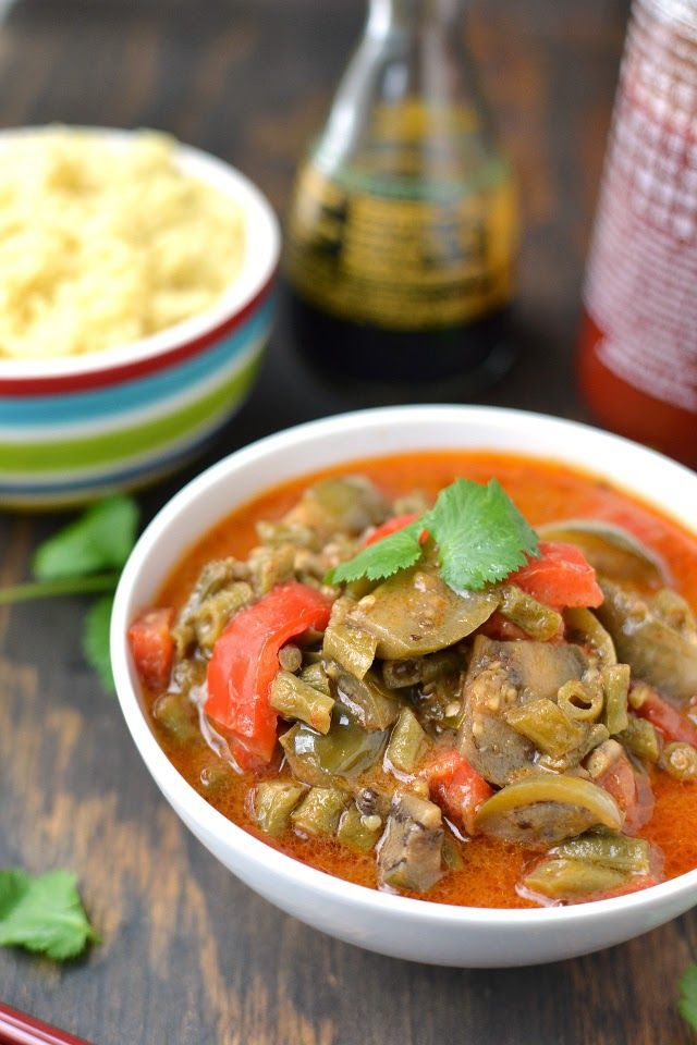 Thai Vegetable Red Curry (Vegan Recipe) by Cook's Hideout
