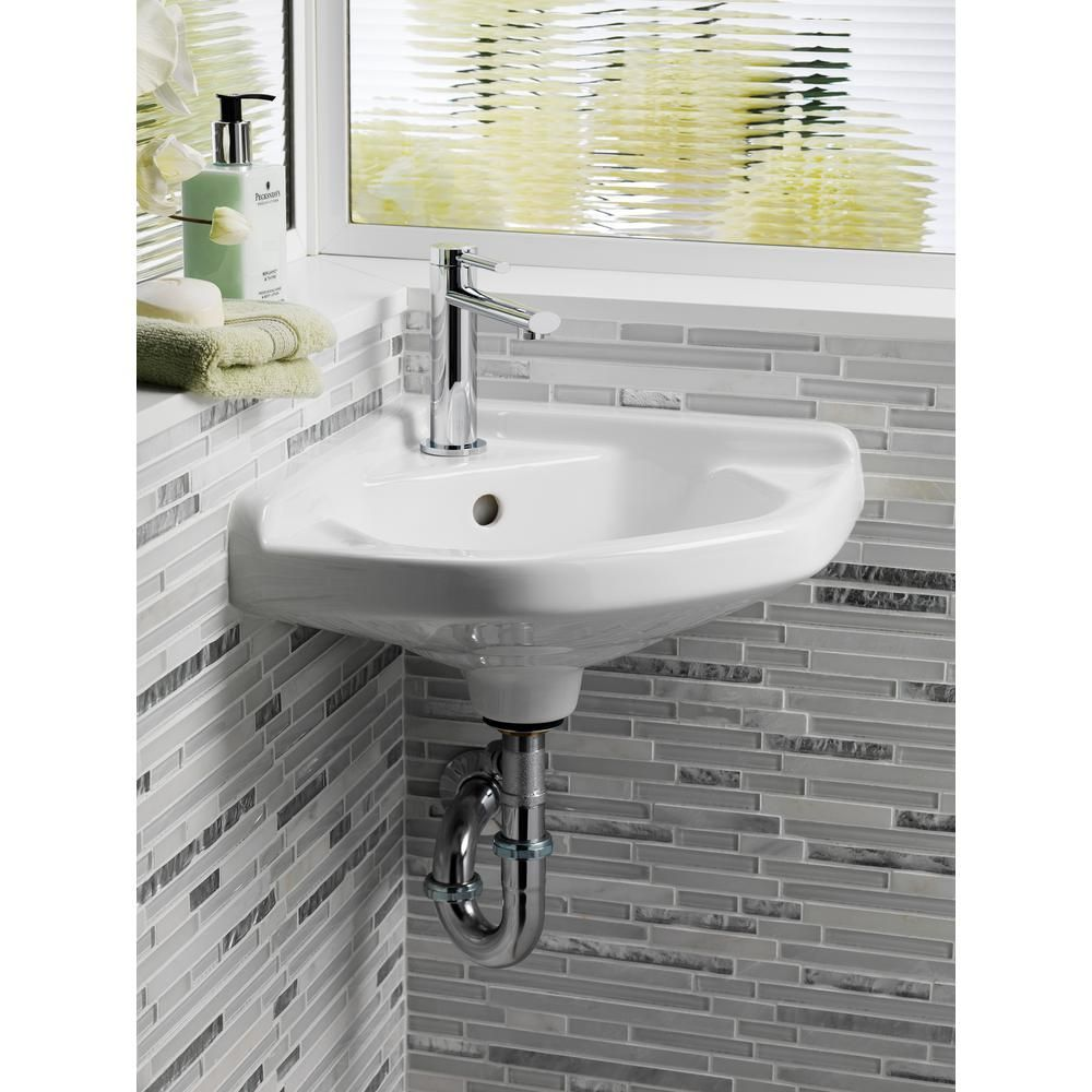 Barclay Products Corner Wall Mounted Bathroom Sink In White 4 750wh The Home Depot Simple Bathroom Decor Wall Mounted Bathroom Sink Small Bathroom Sinks [ 1000 x 1000 Pixel ]