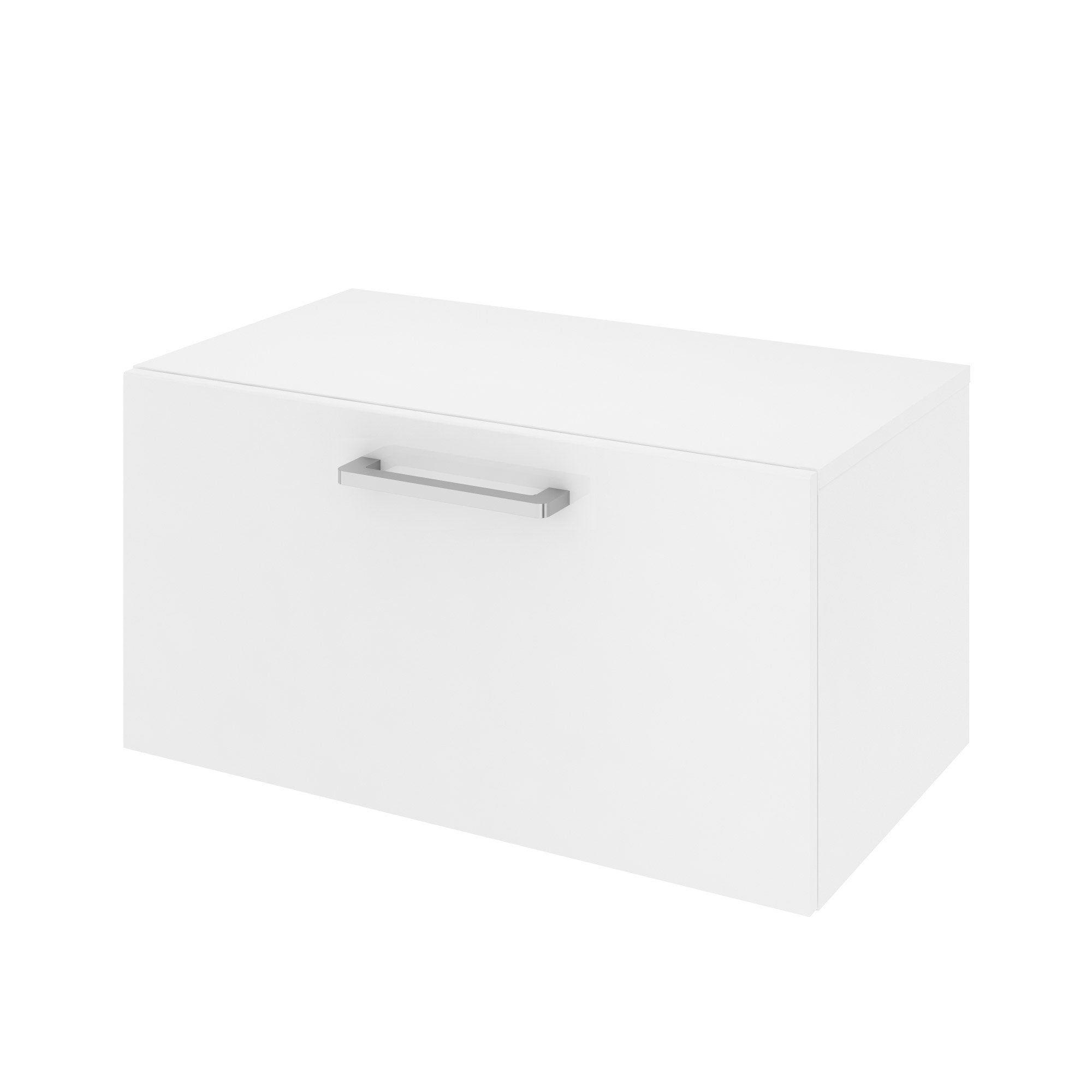 Meuble De Salle De Bains L 70 X H 35 9 X P 38 Cm Blanc Easy Salle De Bain Armoire De Toilette Et Meuble Sous Vasque