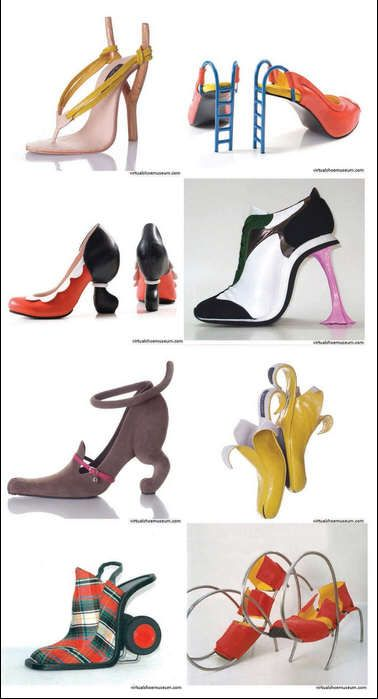 Kobi Levi Shoes - Kobi Levi is a talented Israeli footwear designer. He uses his crazy imagination to create some of the most strange and unusual high heels that you have never seen before. - http://www.kobilevidesign.blogspot.co.il