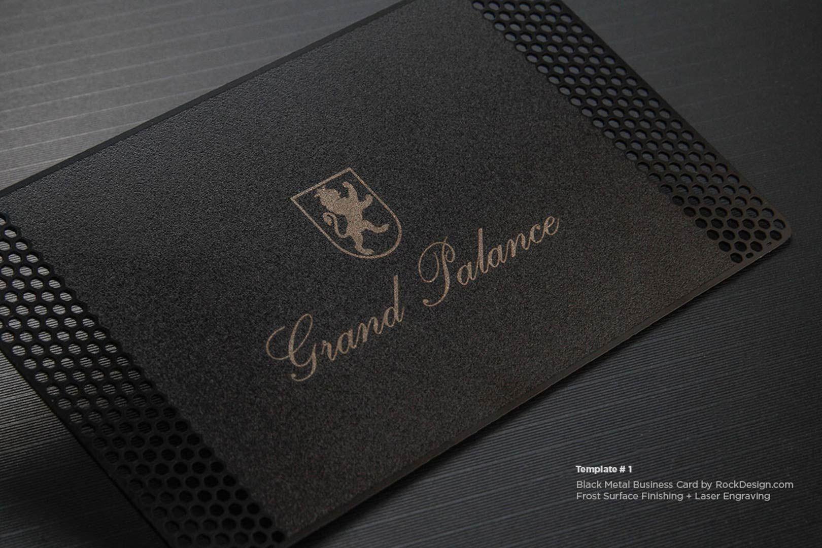 Laser Engraved Black Metal Business Cards Rockdesign Metal Business Cards Wood Business Cards Quick Business Cards