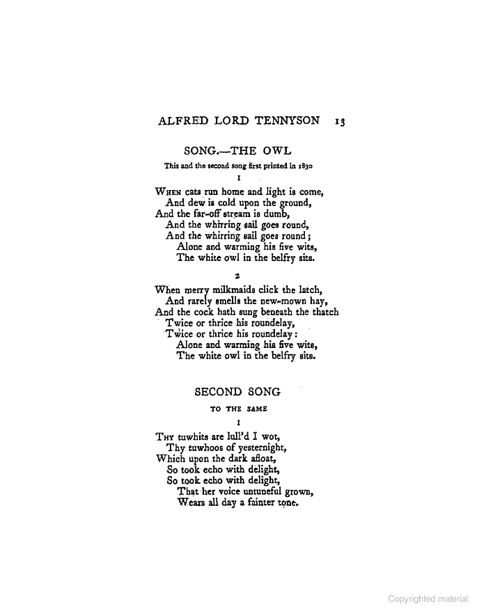 lord tennyson famous poems
