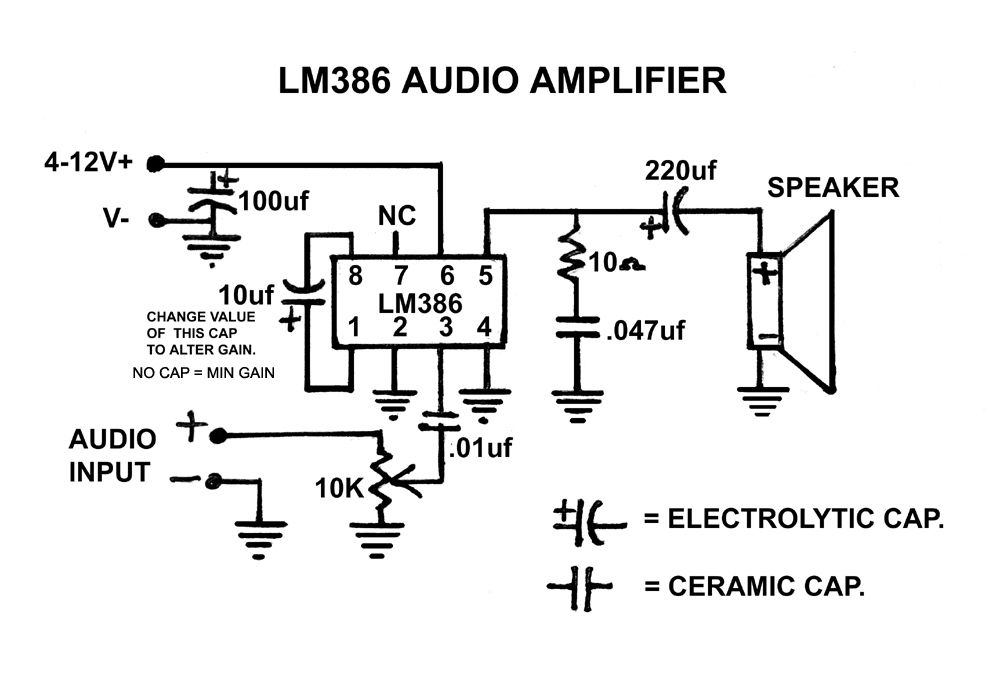 diy portable speaker amplifier using lm386