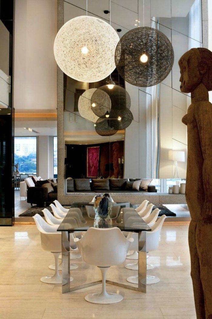 esszimmer modern ausgefallene ideen für die beleuchtung des - küchenregal mit beleuchtung