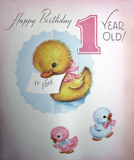 This Is A Sweet Old Birthday Card Happy 1 Year Cards