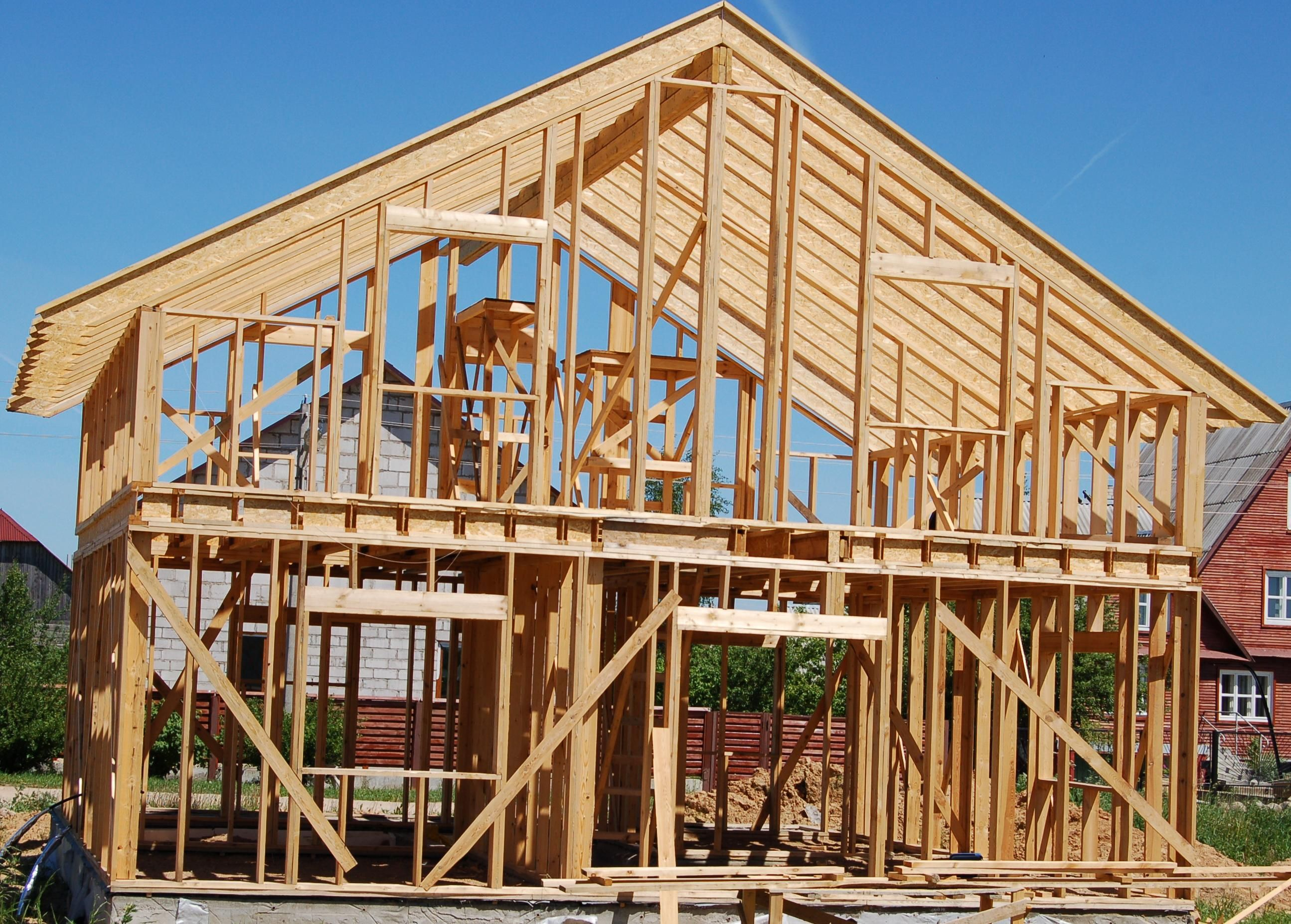 wood frame house images amp pictures becuo construction stock photo ...