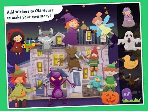 FREE Halloween app for kids - Tricky Stories: Halloween Fairy Tale -  Adventurous Sticker Book