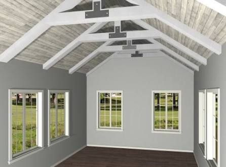 Image Result For Exposed Truss Ceiling Details Exposed Trusses Cathedral Ceiling Chief Architect