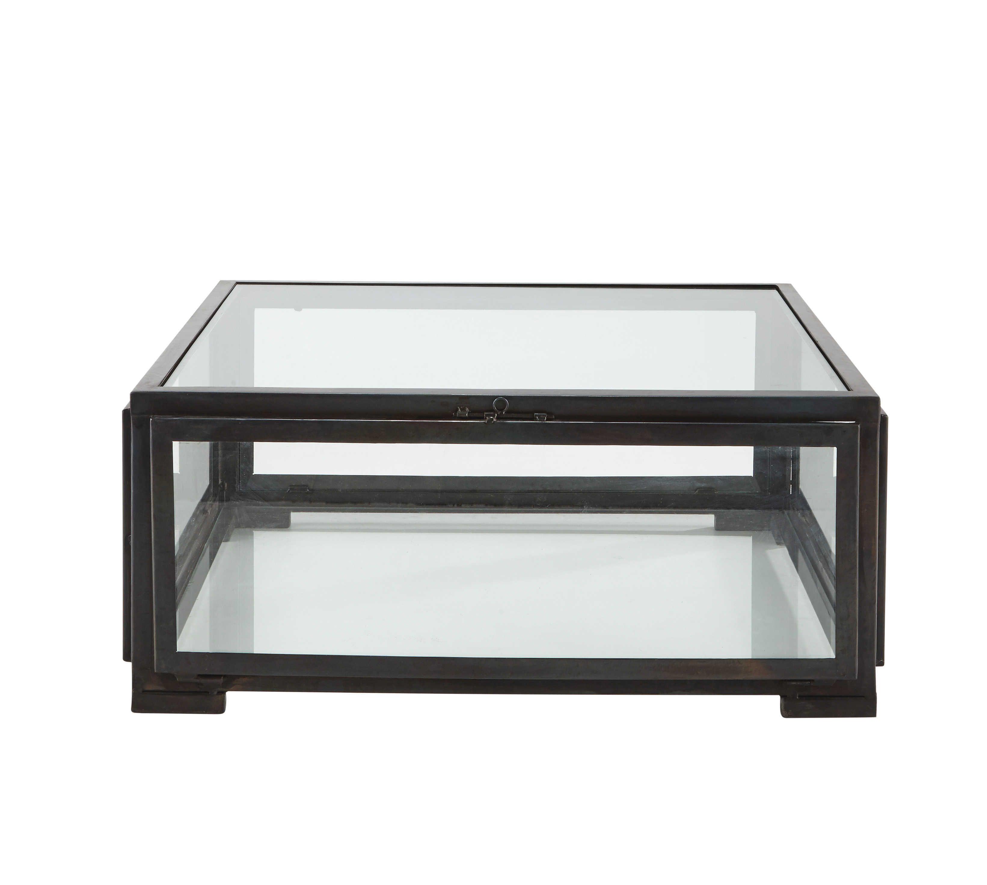 Tavolo Basso Quadrato Nero In Vetro E Metallo L 80 Cm Alphonse Table Basse Carree En Verre Table Basse Metal Table Basse Carree