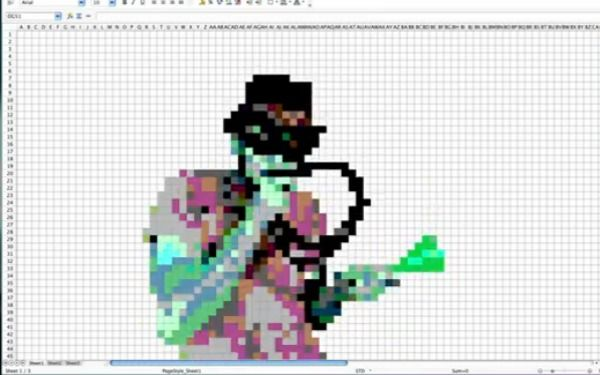 Someone made a video completely in Microsoft Excel....and it's pretty cool.