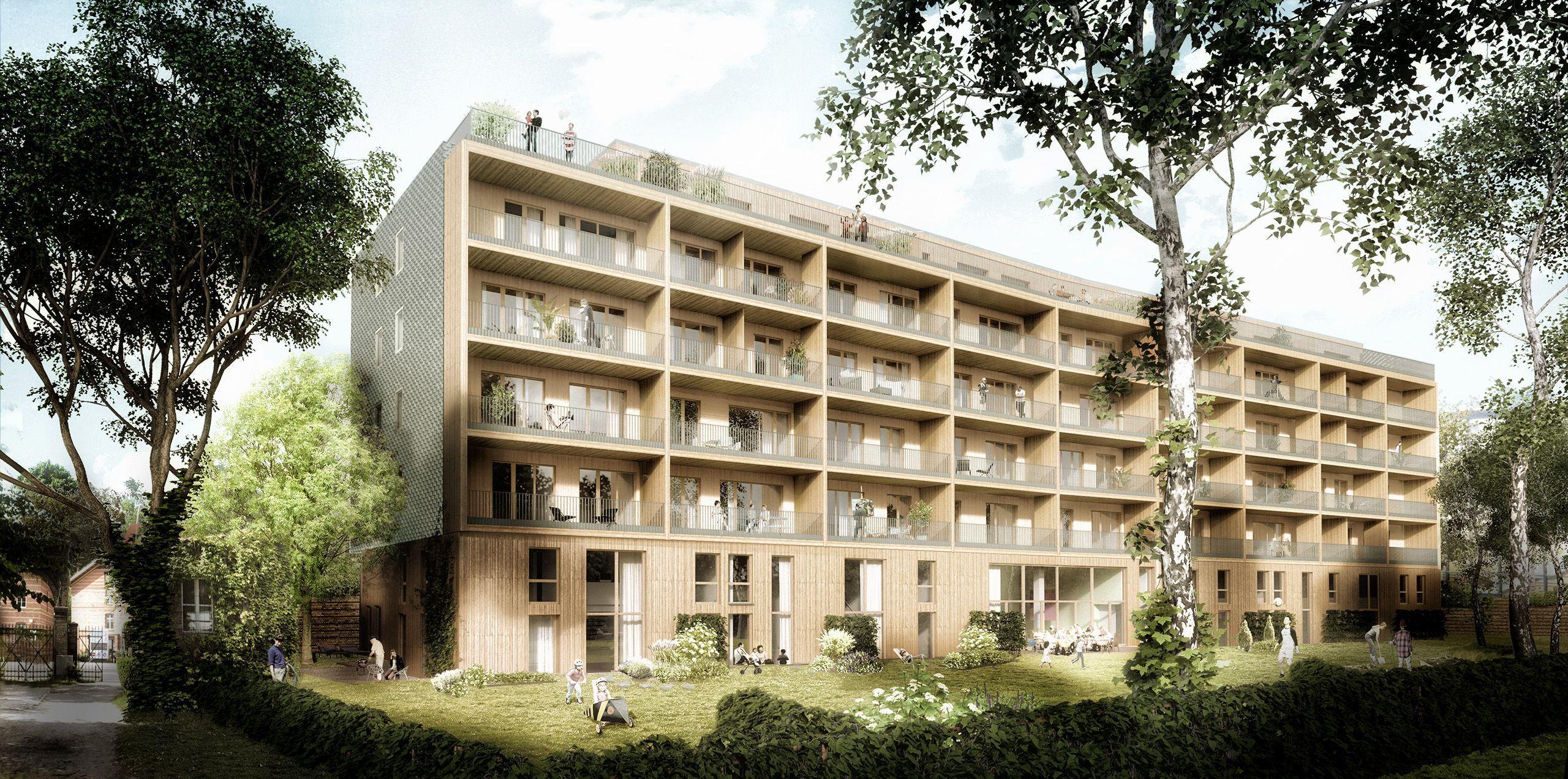 Architekturvisualisierung Berlin berlin baugruppe walden landsbergerallee render manufaktur