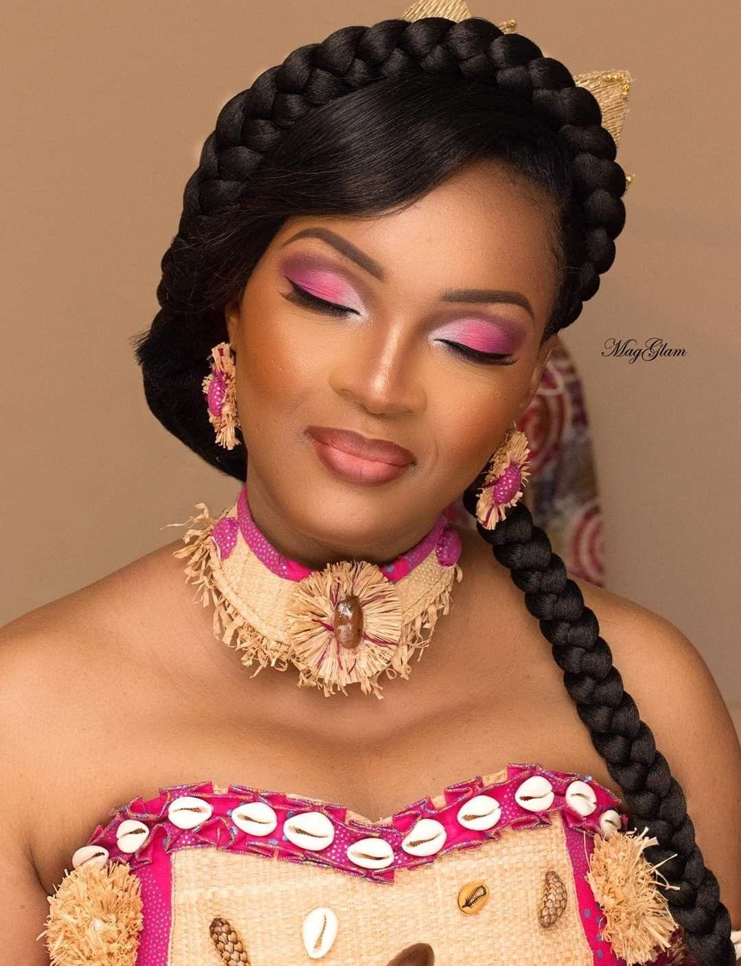 Tresses Africaines Coiffure De Mariage Mariage Personnalise Gabon Gabon Mariage Cheveux De M African Wedding Hairstyles Amazing Wedding Makeup Coiffure Mariage