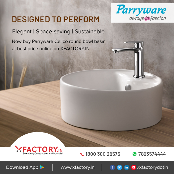 Now Buy Parryware Celico Round Bowl Basin At Best Prices On