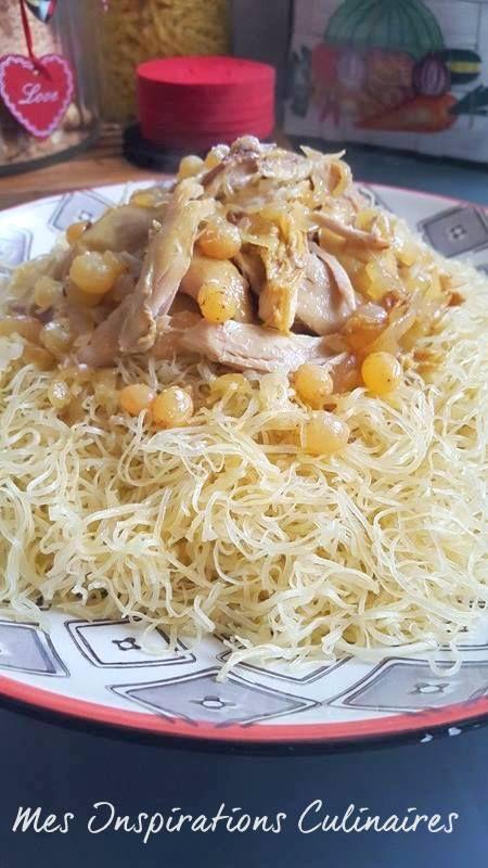 Rechta au poulet sauce blanche cuisine alg rienne recette plats orientaux - Cuisine algerienne traditionnelle ...