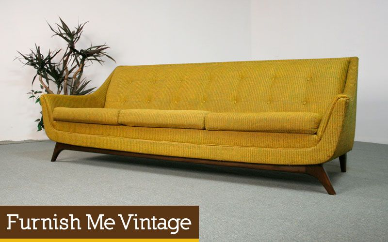Retro Sofas Sold Mid Century Modern Pearsall Style Sofa Living Room