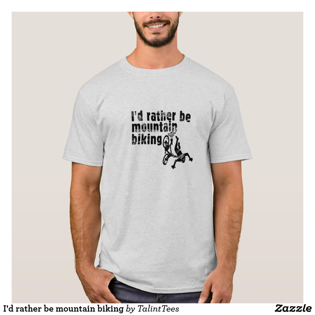 6668bfdf3 I'd rather be mountain biking T-Shirt | Zazzle.com in 2019 | Animal ...
