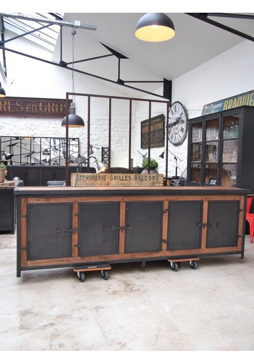 Exemple Fabrication meuble bois et metal Industriel - rustique