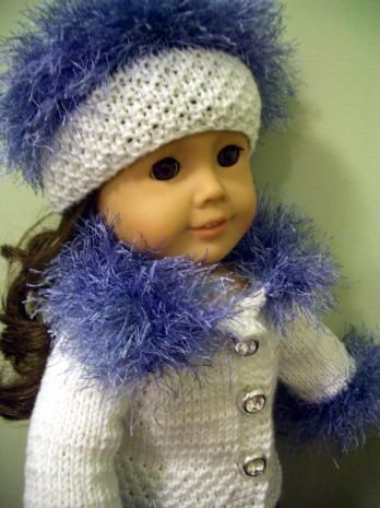 KNITTING (hand-knit) PATTERN for BEGINNER to fit AMERICAN GIRL 18 ...
