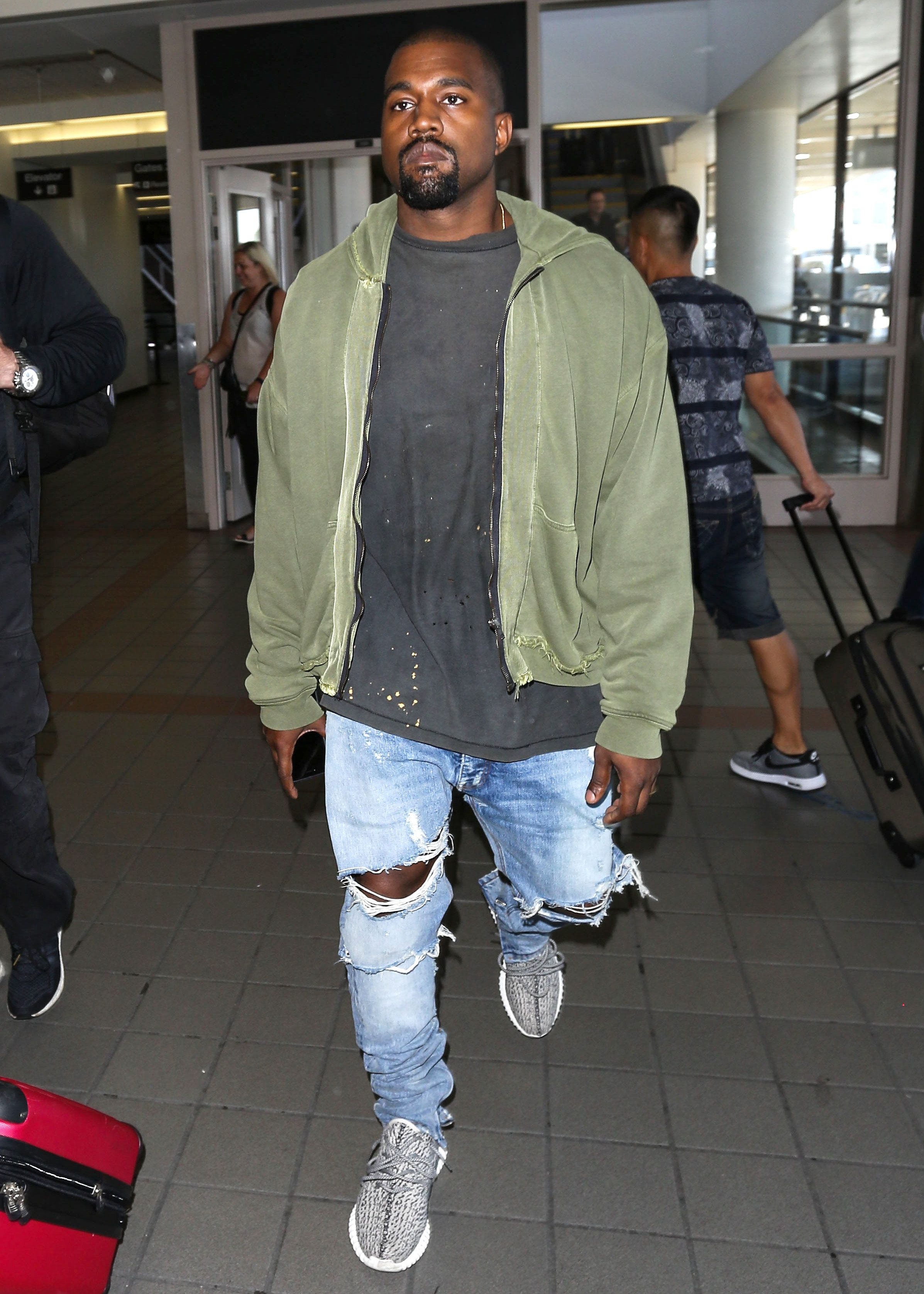 3242e4f5220 Kanye is one of my fashion icons because of his oversized and distressed  clothing line that isn t liked by all but he had the tenacity to start his  own ...