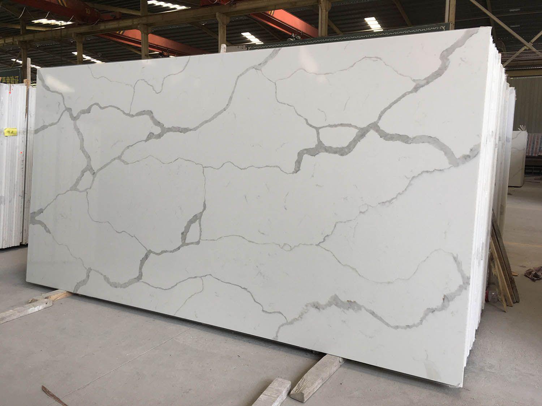 Best Calacatta White Quartz Slabs Quartz Kitchen Countertops 400 x 300