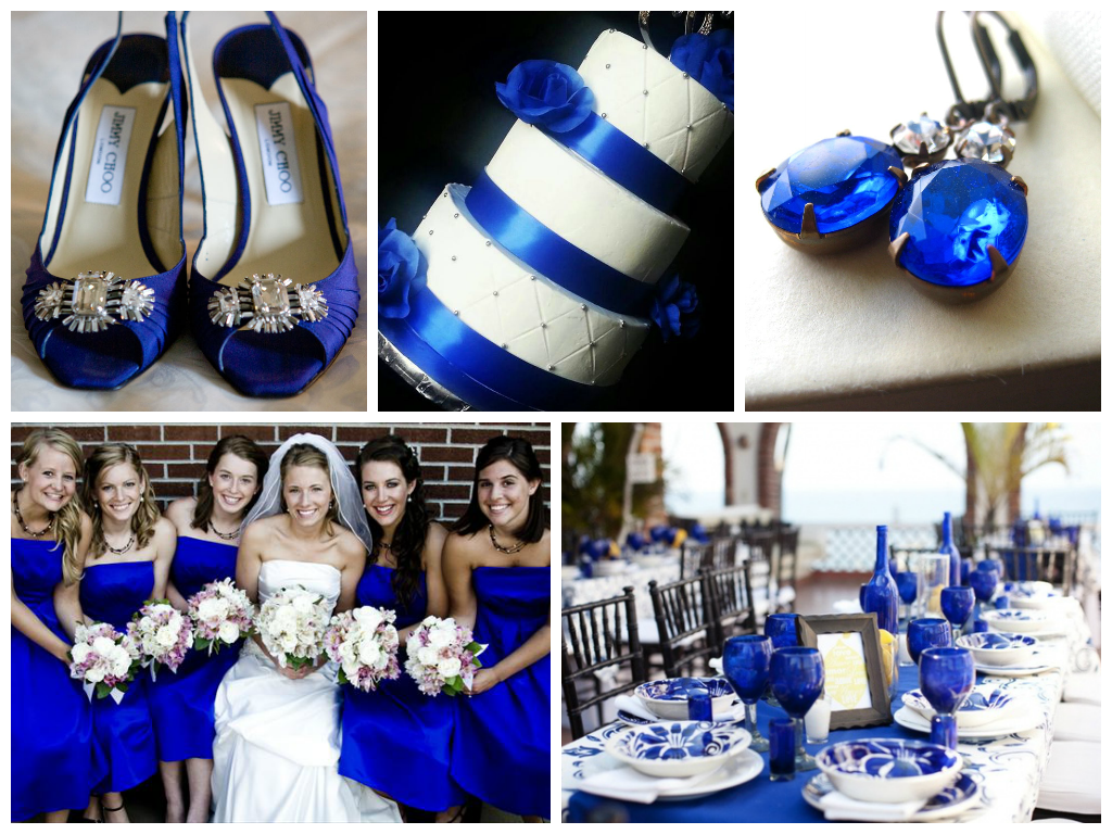 Royal Blue Wedding Inspiration Blue wedding decorations