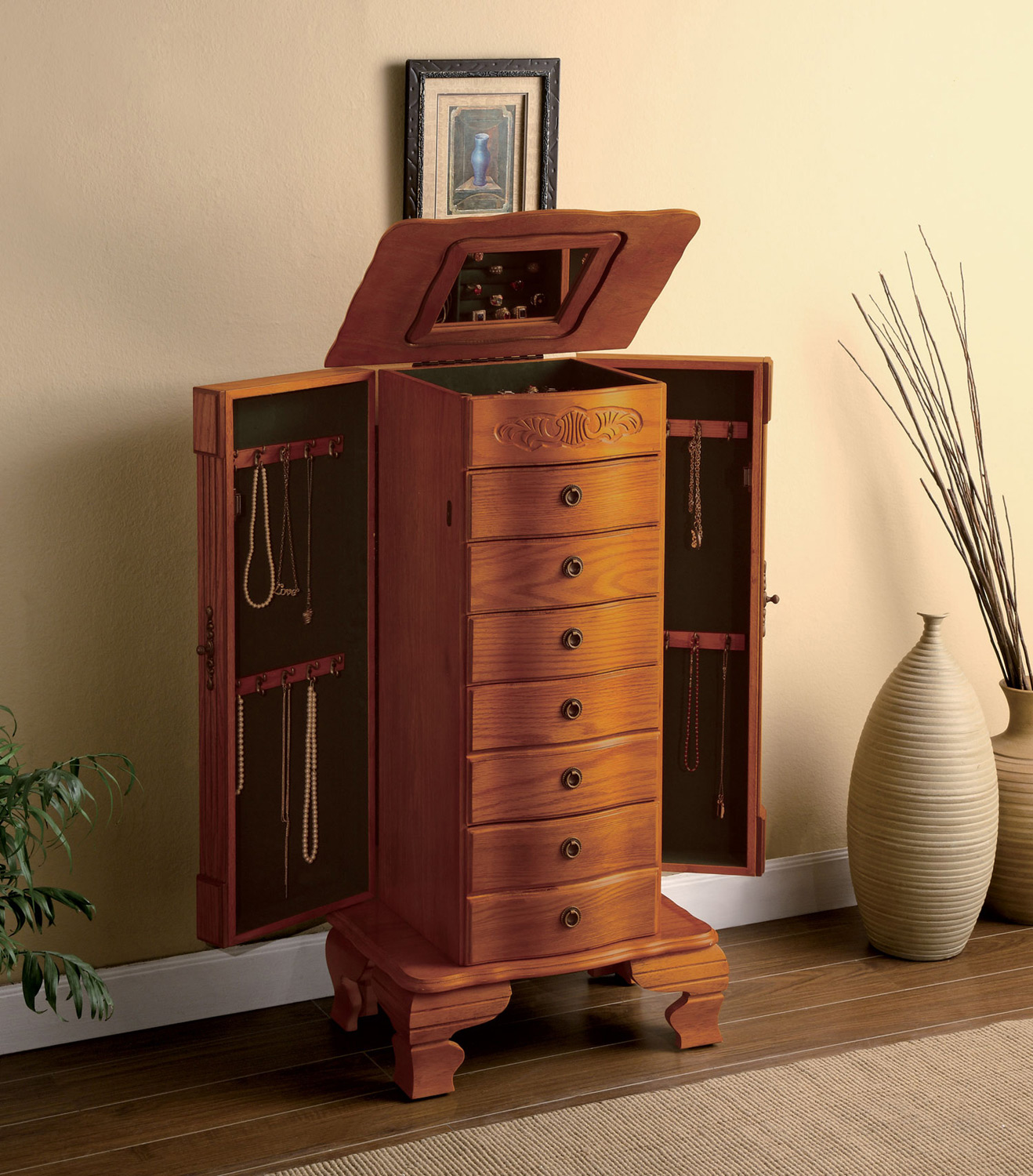 Jewelry Armoire Coaster Home Gallery Stores Jewelry