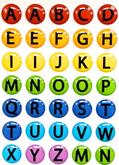 Abc Alphabet Letters   Piece Home Button  Craft Stuff