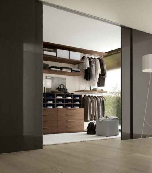 Big and modern closet.