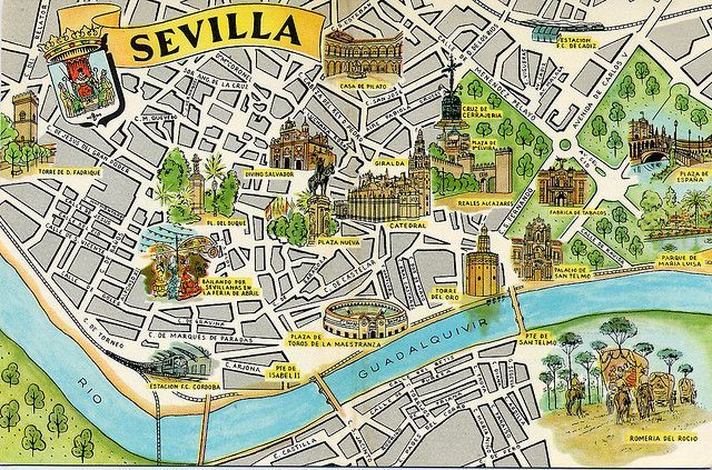 simple spain map - Google Search | Map of spain, Spain ... |Seville Spain Map