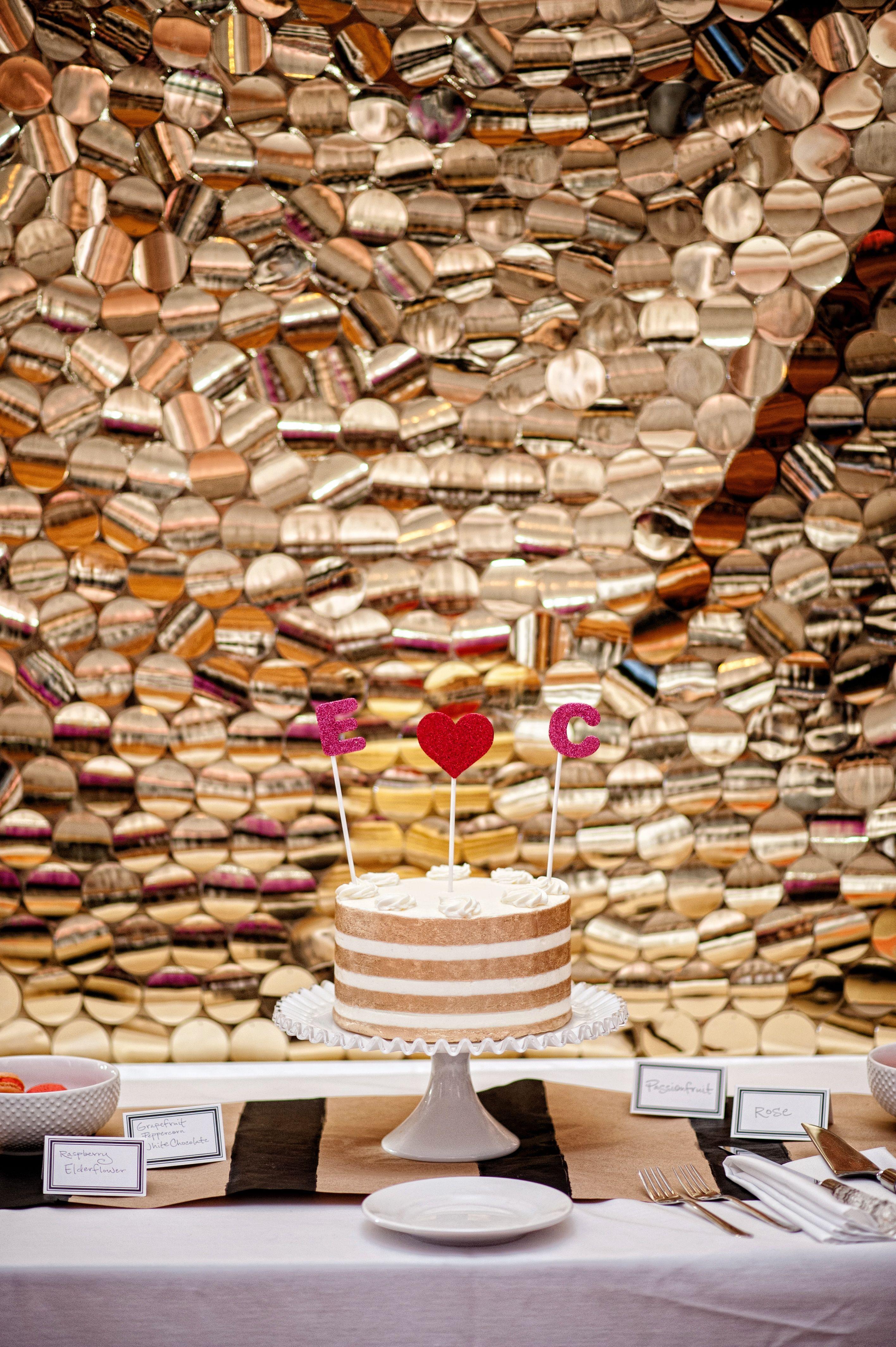 Striped Metallic Cake L. Frisch Photography www