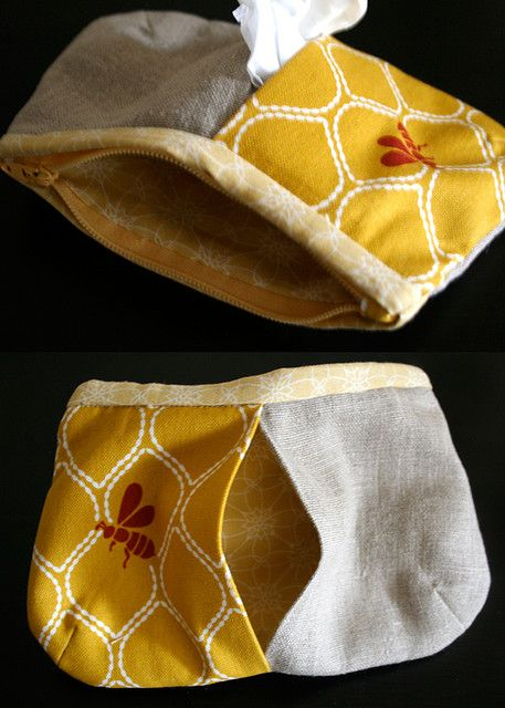 tissue zippy pouch - yet another project to recreate