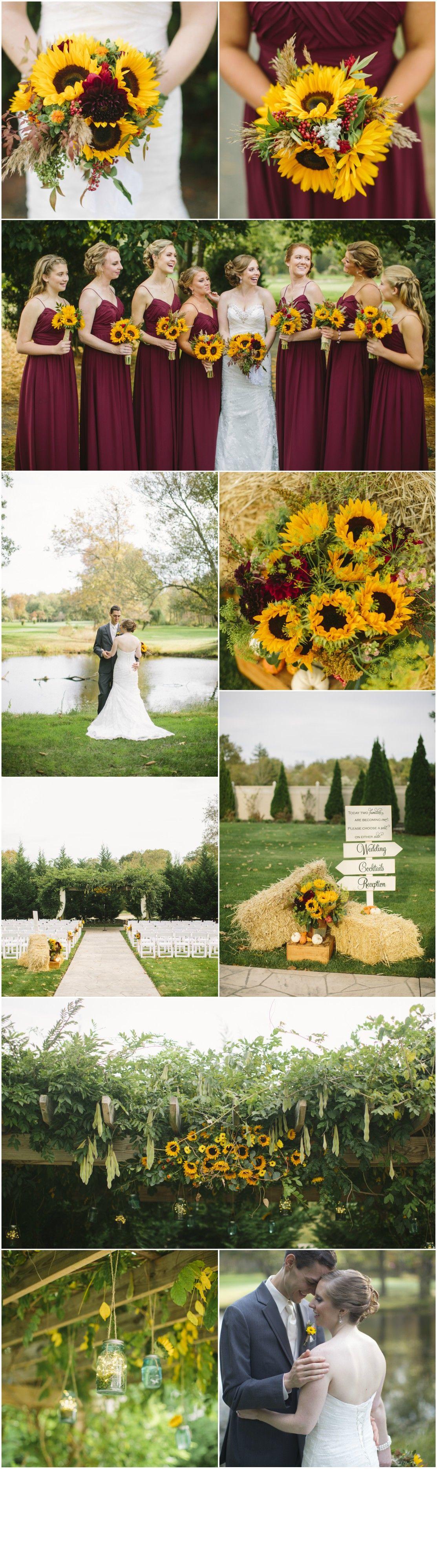 Wedding decoration ideas burgundy  South Jersey Wedding Florist Amanda u Kevin at Eastlyn Golf Course