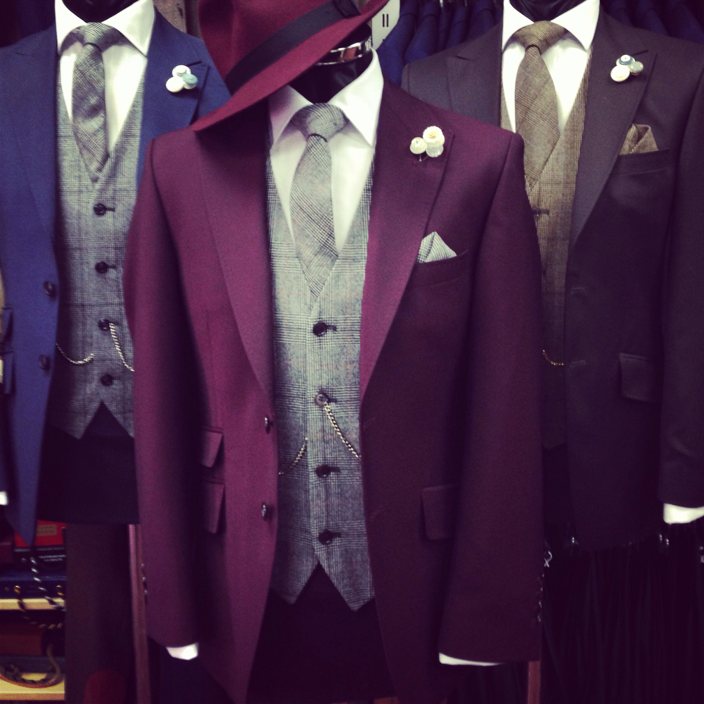 New Colour Available For 2014 The Burgundy York Hire Suit Terno