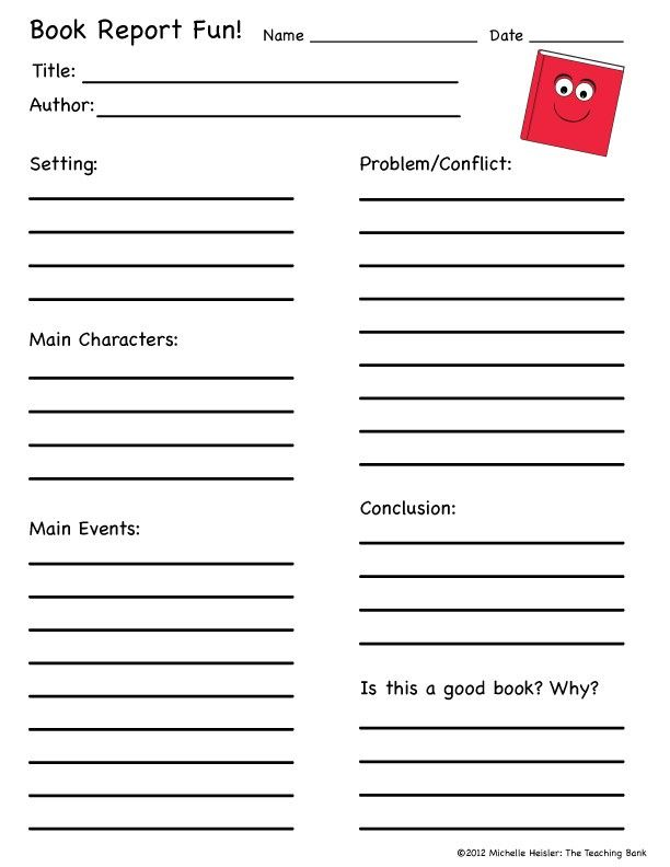 This is a book report form that can be used with any book 1st - problem report